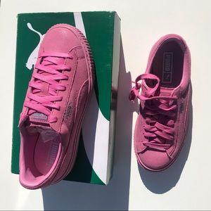 Puma Shoes - NEW Puma Platform Reset Basket PINK sneaker 8 NWT